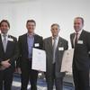 H. Glocker erhält Urkunden für 16 Jahre Vorstandsarbeit u. 43 Jahre Mitglied